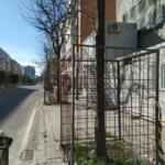 Protección individual tipo jaula de arbolado en obra. Sevilla